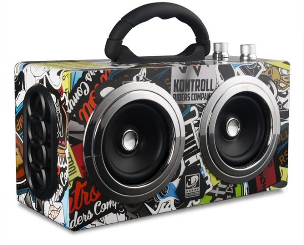 20W Portable Wooden High Power Bluetooth Speaker Dancing Loudspeaker Wireless Stereo Super Bass Boombox Radio Receiver Subwoofer LLFA