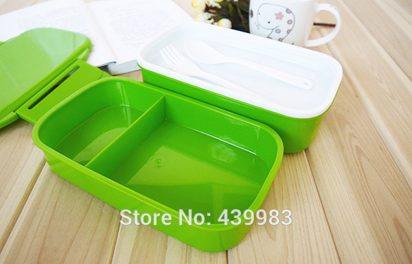 Wholesale-Creative product Lunch box /Student Bento Candy colors 850ML Christmas gift Free shipping