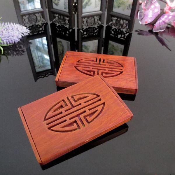 Großhandel Natürliche Massivholz Kartenetui Visitenkartenetui Palisander Senior Cardcase Aus Holz Home Office Storage Za6811 Von Perfumeliang 2 79