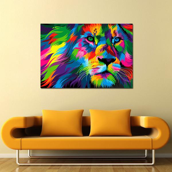 1 Pcs Da Arte Da Lona Pintura Cores Rei Leão HD Impresso Wall Art Home Decor Poster Imagem para Sala de estar