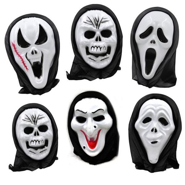 Хэллоуин череп Маска страшный призрак Маска крик костюм партии жуткий череп ужас скелет маски косплей опора Хэллоуин поставки LDH234
