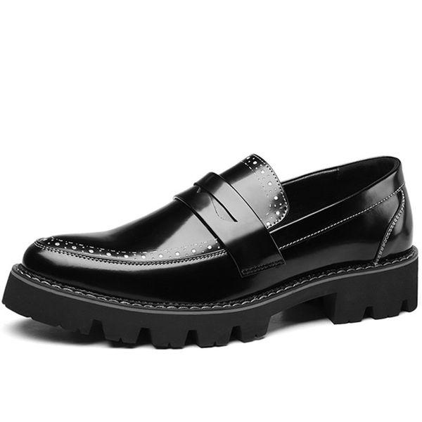 Men Dress Shoes Men British Business Office Formal Shoes Men Casual Buckle Strap Brogue Fashion Leather Shoes