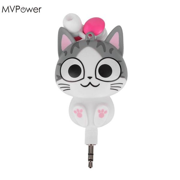MVpower 3.5mm Cute Cartoon Cat / Panda 3.5mm con cable Retráctil Auriculares In-Ear Auriculares Auriculares MP3 Auriculares manos libres