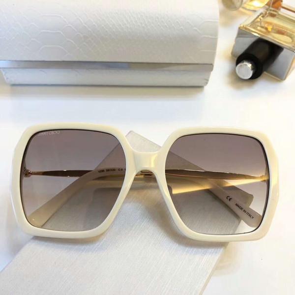Square Gold Sunglasses Beige Brown Shaded gafas de sol Sonnenbrille luxury brand designer sunglasses for men Gafas de sol New with box