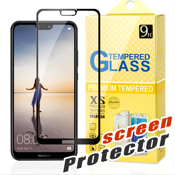 For J2 CORE huawei Mate 20 X MOTO E4 E5 Plus G5 G6 Plus X4 Z2 Play Huawei P20 lite Pro Full Cover Flim 2.5D Tempered Glass Screen Protector