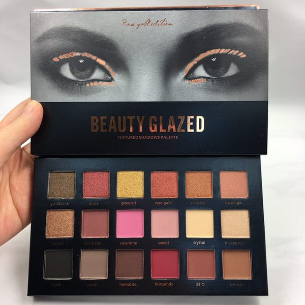 Beauty Glazed Eyeshadow Palette Make Up Kit Luminous Metallic Shimmer Eyeshadow Glitter Diamond Pigment Eye Shadow Sombra Gifts