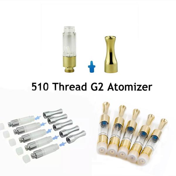 510 Discussione G2 Atomizzatore 0,5 ml 1ml Rotondo Metallo Boccaglio PC Serbatoio Cera Atomizzatori Vaporizzatore E Sigarette Wick Bobina Olio Vape Cartucce