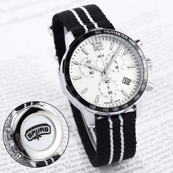 top popular HOT men sport watch design for Basketball team fans all function work quartz watches 1853 date ribbon strap Tag wristwatch 2019