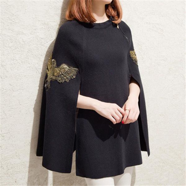 schwarzen Pullover