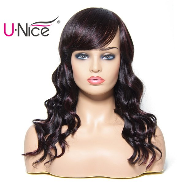 Unice Hair Bettyou Wig Series Wet and Wavy Brazilian Human Hair Wigs With Bang Remy Human Hair #1 #2 #4 Natural Wholesale Bulk