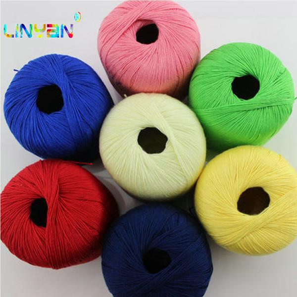 5 piezas * 50 g de hilo para tejer hilo de seda de lino de croca para tejer hilo para tejer aguja Tejido de lino hecho a mano de algodón t4
