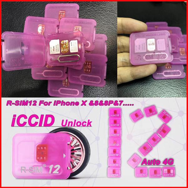 Rsim 12+ r sim 12+ RSIM12 unlock card for iPhone X ios11 iPhone8 i7 i6 R-SIM12 perfectly unlock 4G iOS 11.x-7.x CDMA GSM WCDMA SB AU SPRINT