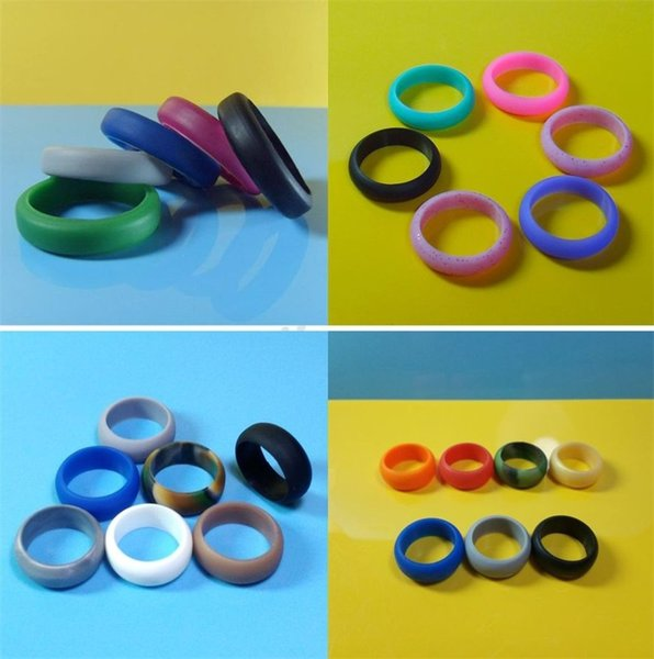 Women Men Silicone Ring Multi Size Wedding Band Anniversary Gift Arts And Crafts Rubber Flexible Comfortable Rings High Quality 0 8fb Y ZW