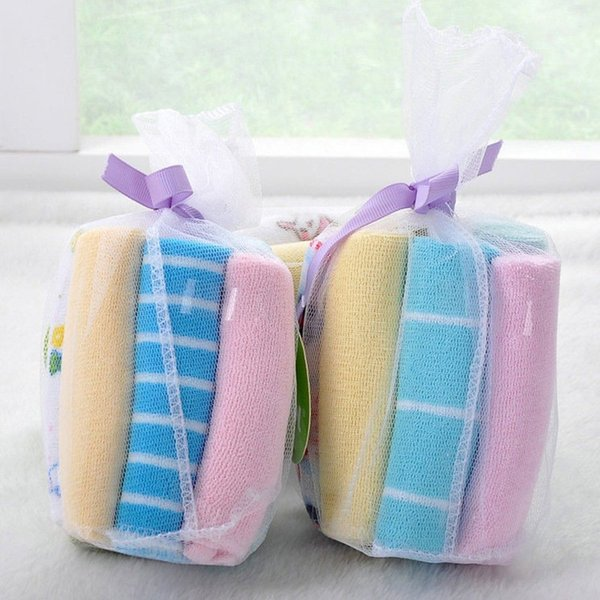 Hot Selling 8 pcs New Soft Baby Kids Boy Girl Little baby handkerchief Bath Towel Washcloth Wipe High Quality Promotions Fashion