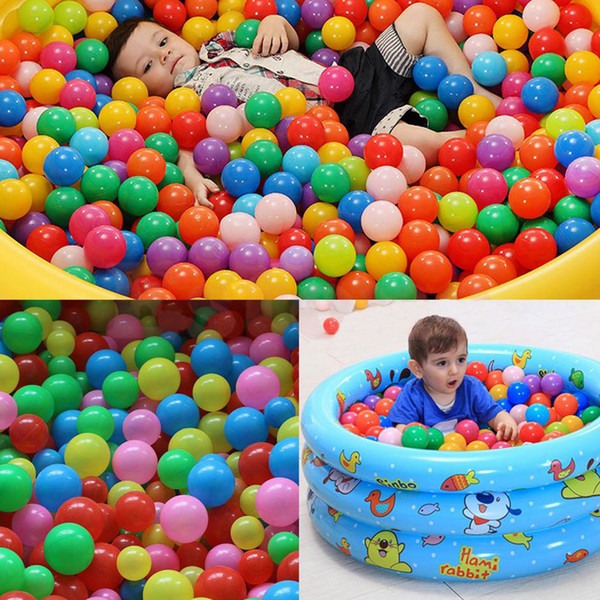 5.5cm Colorful Soft Plastic Ocean Marine Ball Baby Kids Sand Swim Pit Toys Water Pool Fun Wave Balls Outdoor Game Play AAA774