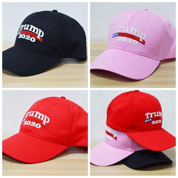 Embroidery Trump 2020 Make America Great Again Donald Trump Baseball Caps Hats Baseball Caps Adults Sports Hat Snapbacks 1pcs