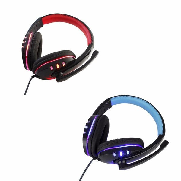 3.5mm Stereo Gaming Headset Wired Over Ear Game Headphones with Mic Noise Cancelling & Volume Control USB LED Deep Bass for Xbox One PS4 PC