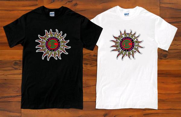 ALICE NAS CADEIAS Sun Logo Grunge Rock Band Homens Preto e Branco T-shirt (S-3XL)