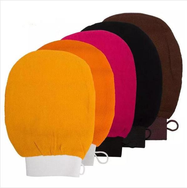 Esfoliante Luvas marroquino toalha de banho hammam scrub luva magia peeling luva esfoliante luva tan remoção (sensação grosseira normal)