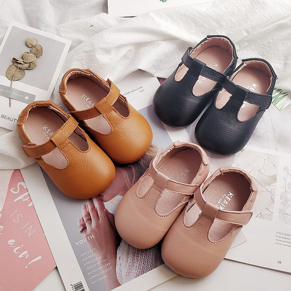 Toddlers Moccasins Soft Baby Shoes Genuine Leather Kids Shoes Solid Color Girls Shoes Princess Mary Jane Chaussure Fille