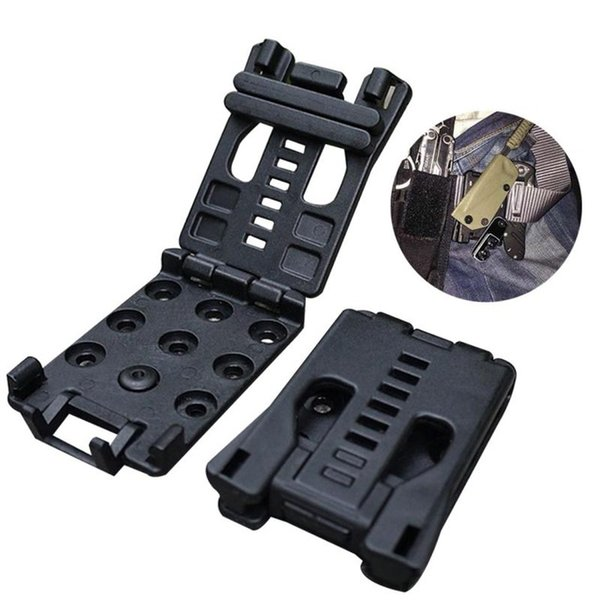 Multifunction Waist Clip Back Clamp K Tools Black Outdoor Sport Camping Climbing Travel EDC Gear Free Shipping 210Pcs