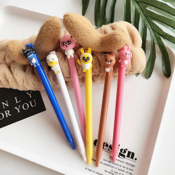 Japanese and Korean cartoon bear rabbit pen office stationery neutral pen student homework cute