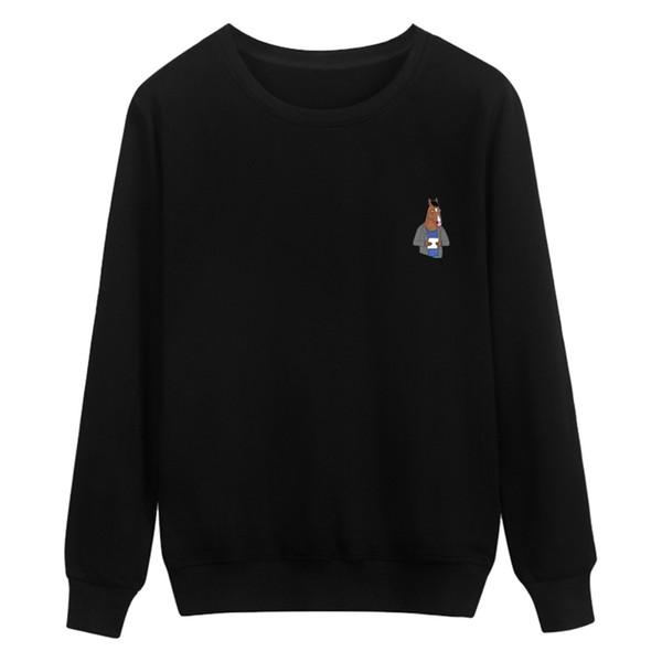 BoJack Knight Hoodies hommes / femmes Black Coon Harajuku Sweat-shirts à capuche et capuchons pour hommes de haute qualité