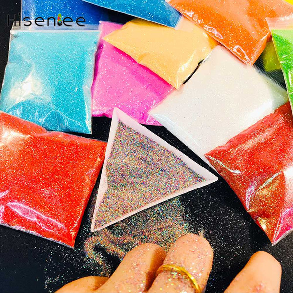 Hot Sale Nail Glitter 20G/Bag Candy Shining Gradient Nail Art Glitter Pigment Powder Dust Ultra-fine Mix Art Deco