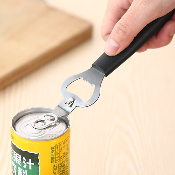 Creative Multi Function Openers Stainless Steel Bottle Pop Top Can Opener Safety Non Rusty Kitchen Accessories Durable 0 99xy BB