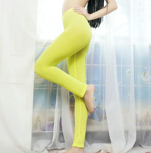 Damen Reißverschluss Schritt Durchsichtig Hose Leggings Ice silk Pantyhose