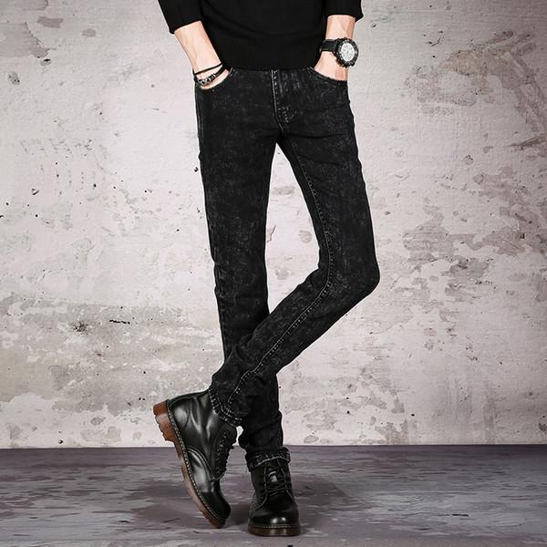 2018 Men Jeans Pants Biker Skinny Slim Straight Frayed Denim Trousers New Fashion Skinny Jeans Men Clothes Streetwear