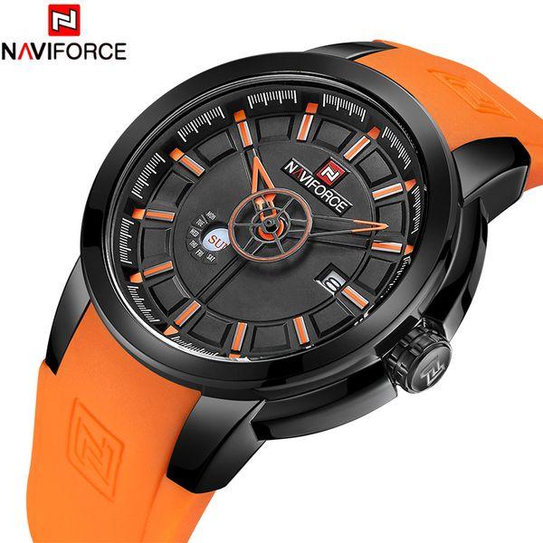 2018 New Men Watch NAVIFORCE Top Luxury Men's Fashion Silicone Watches Man Waterproof Sport Wristwatch Relogio Masculio