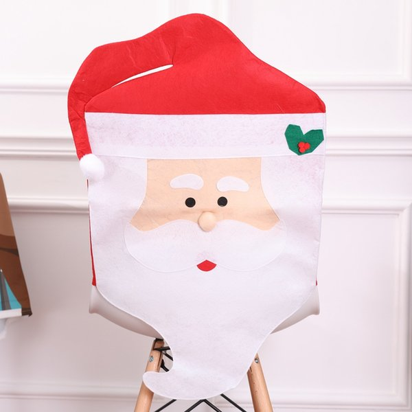 Lovely Christmas articles for use Chair Covers Ornaments Mr & Mrs Santa Claus Christmas Decoration Free shipping!#0806