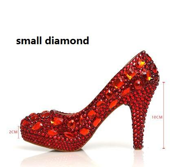 Red 10cm small diamond
