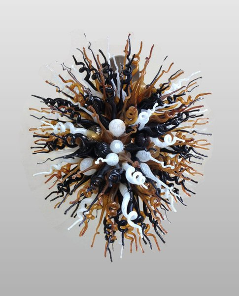Black Amber White Hanging Wunderbare China Kronleuchter Murano Art Lighting Moderne Pendelleuchte Ornament Blown Glass