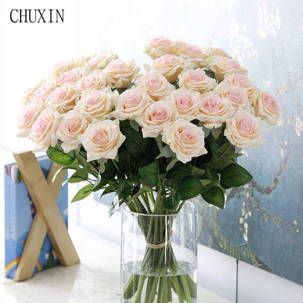 25pcs/lot New Artificial Flowers Rose Peony Flower Home Decoration Wedding Bridal Bouquet Flower High Quality 9 Colors