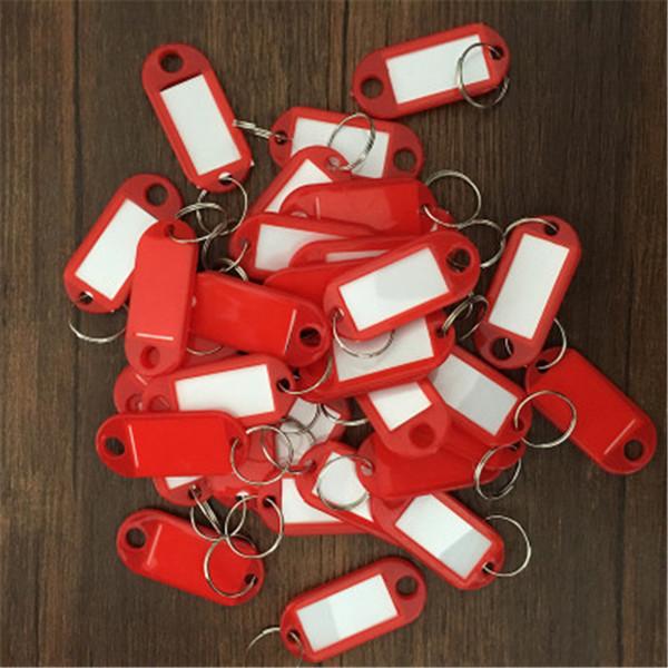 Plásticos Multi-cor KeyChains Etiquetas De Bagagem Id Label Classificação Lembrar Nome Etiquetas Com Anel De Divisão Para A Bagagem Anéis Chave Para Casa