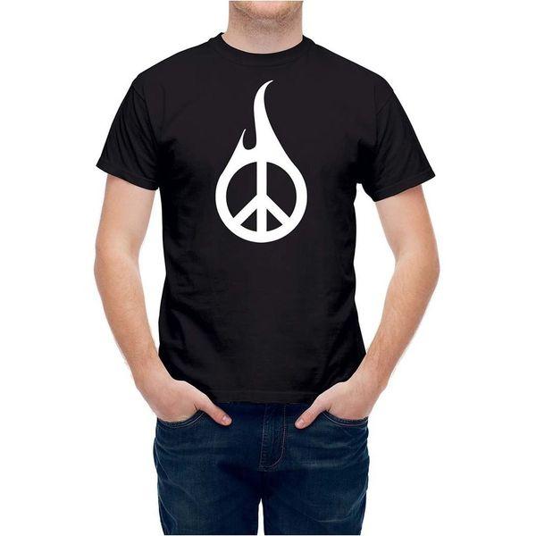 T-shirt yanan barış işareti T23469harajuku yaz 2018 tshirt