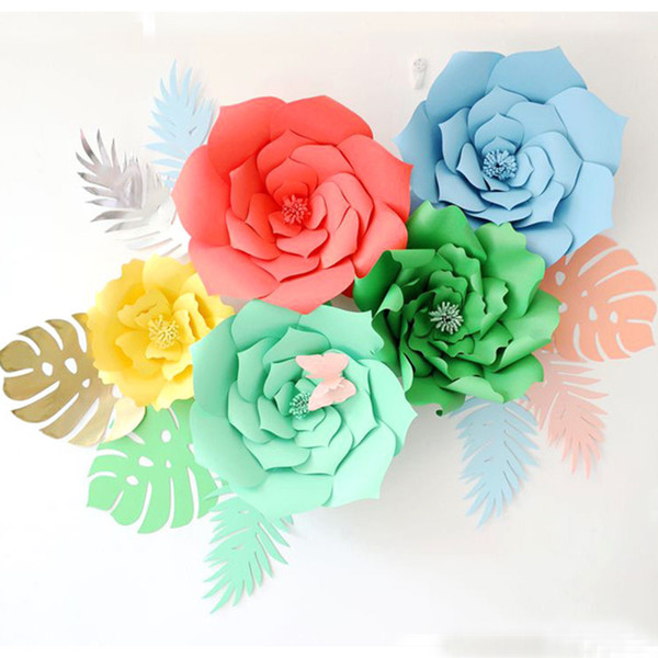8pcs/Pack DIY Paper Turtle Leaf Palm Leaves Backdrop Decor Kids Birthday Party Wedding Party Home Room Decor Supplies 8 Styles HH7-1086