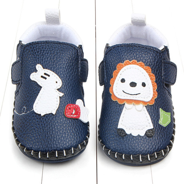 0-18 Months Baby Boy Girl Pre-Walker White Soft Sole Pram Shoes Trainers First Walker