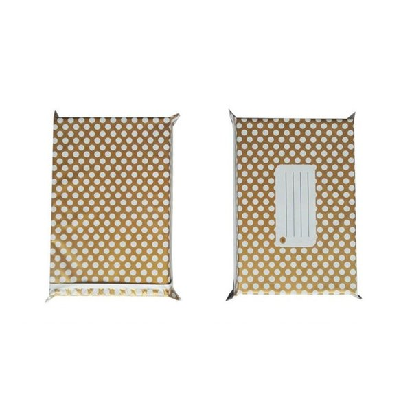15x26cm 6x10 Inch Gold Dot Pattern Poly Mailers Self Seal Plastic Envelope Bag Mailing Courier Bags Za6603 Luxury Wrapping Paper Christmas Luxury Xmas