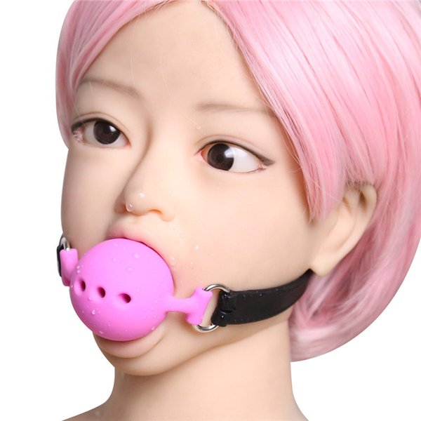 Free shipping!!!3 size Silicone Open Mouth Ball Gag in Adult Game Bondage Restraints Sex Products BDSM Erotic Toy Couple Sex Toys