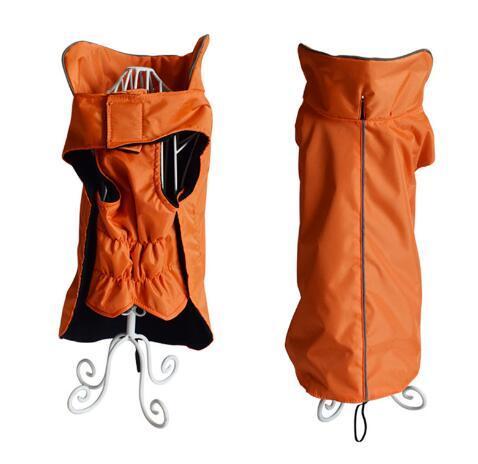 1 piece wholesale XL-5XL Pet Dog Reflective Vest Outdoor Waterproof Rain Coat Fleece Winter Pet Clothes For Dogs Cats Dog Clothes Wholesale