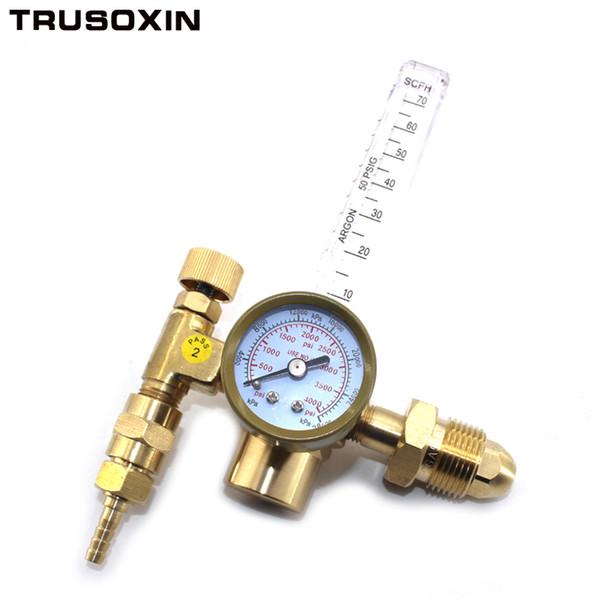 Reductor de presión de argón de CO2 Regulador de la válvula de control del medidor de flujo Presión reducida Medidor de flujo de gas Medidor de flujo de soldadura Medidor de soldadura