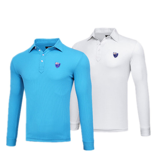 2018 Top sport Time-limited Anti-pilling Men Golf Polo Pgm Authentic Golf Clothes Men's Long-sleeved T-shirt Winter Clothing