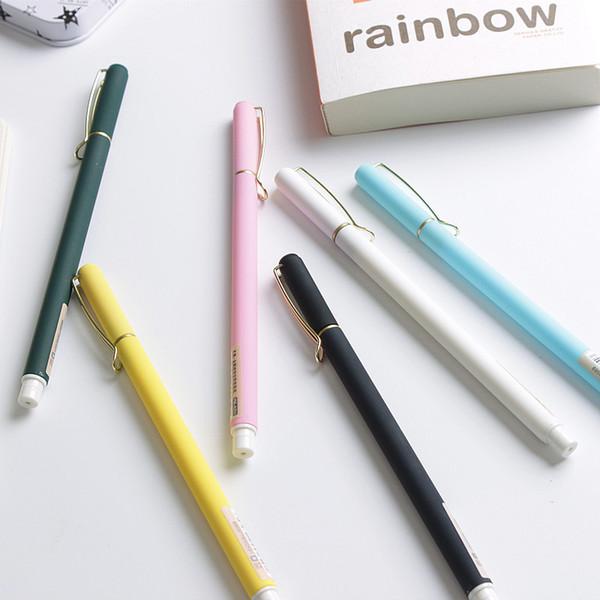 3 Pcs / lot Pin Cap Gel Stylo pour École 0.5mm Balck Ink Étudiants Kawaii Mignon Stylos pour Écriture Bureau Fourniture scolaire Papeterie Cadeaux