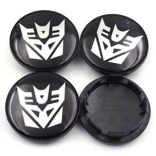 Gzhengtong 4pcs/lot 65mm Wheel Center Hub Caps Transformers Badge Emblems for Golf Jetta Mk5 Passat B6 for VW 3B7 601 171 Car styling