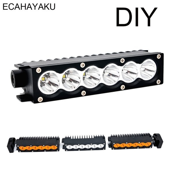 Ecahayaku Brightness New Car Led Light Bar For Trucks 4wd With Modular Diy System White Amber 30w 7inch Diy Any Length You Want Led Light Bars Led