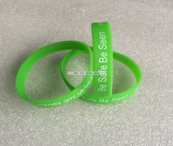 Free shipping cheap fashion Wrist Bands, Logo Text Print Custom silicone wristband bracelet, Gift Promotion 50pcs/lot