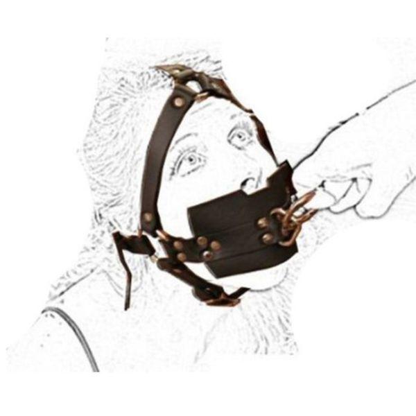 Jouet sexuel fétiche, Gimp Fétiche BDSM Bondage Museau Bâillonnement Bag, Tête Sous Esclave Harnais, Harnais Demi Bandoulière, Cache Bouche Adulte Y18101501